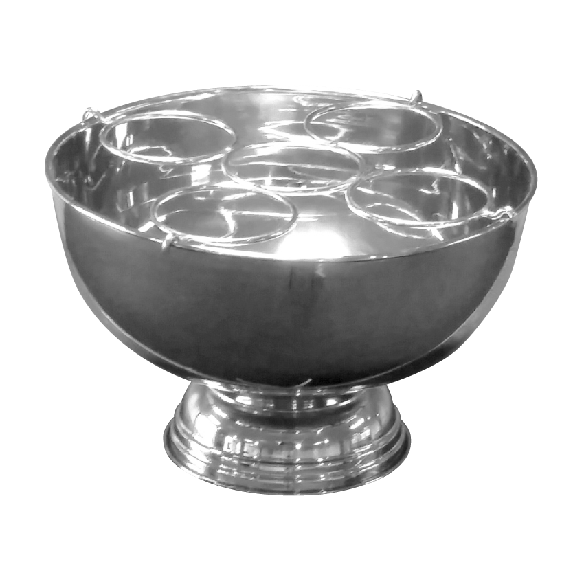 Silver Punch Bowl Wine Holder