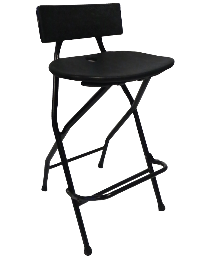 Black Folding Barstool